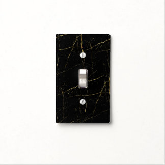 Black and Gold Marble Light Switch Cover