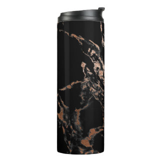 Black and Gold Marble Tumbler