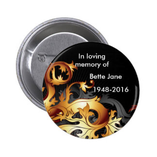 Black and Gold Memorial Button