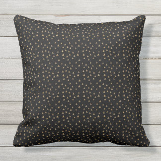 Black and Gold minimalist pattern Outdoor Pillow