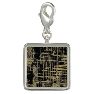 Black and Gold Modern Art Charm