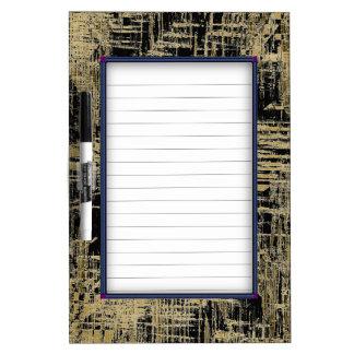 Black and Gold Modern Art Dry Erase Board