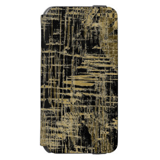 Black and Gold Modern Art Incipio Watson™ iPhone 6 Wallet Case