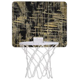 Black and Gold Modern Art Mini Basketball Hoop