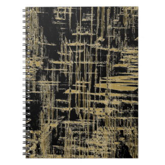 Black and Gold Modern Art Notebook