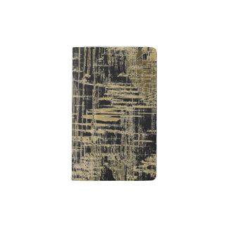 Black and Gold Modern Art Pocket Moleskine Notebook