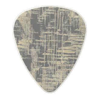 Black and Gold Modern Art Polycarbonate Guitar Pick