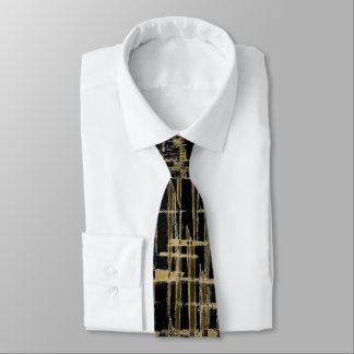 Black and Gold Modern Art Tie