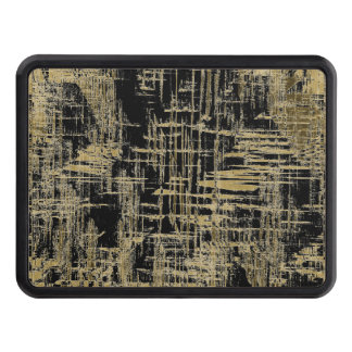 Black and Gold Modern Art Trailer Hitch Cover