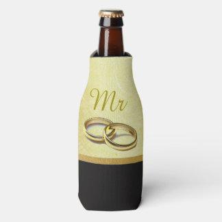 """Black and Gold """"Mr"""" Bottle Cooler Oozie"""