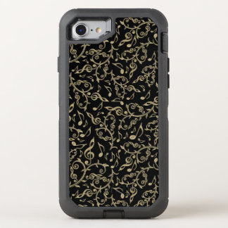 Black and Gold Music Notes Otterbox iPhone