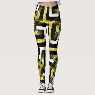 Black and Gold Pattern Leggings ★Funky Zebra II★