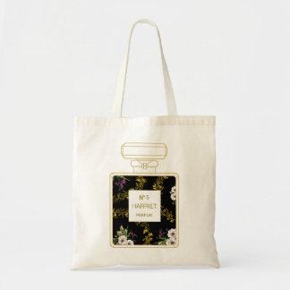 Black and Gold Perfume Tote Bag