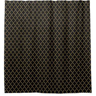 Black and Gold Quatrefoil Seamless Pattern