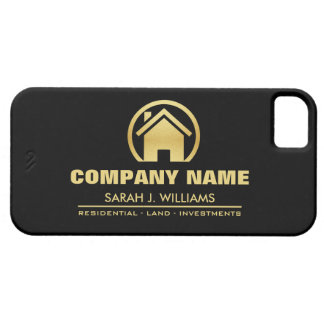 Black and Gold Real Estate iPhone 5 Case