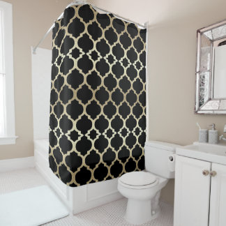 Black and Gold Retro Middle Eastern Motif