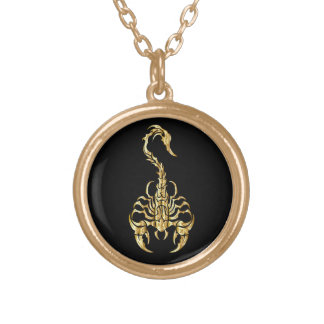 Black and Gold Scorpion Necklace