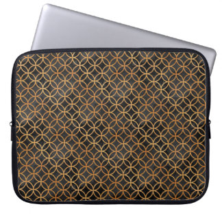 Black and Gold Seamless Pattern Laptop Sleeve