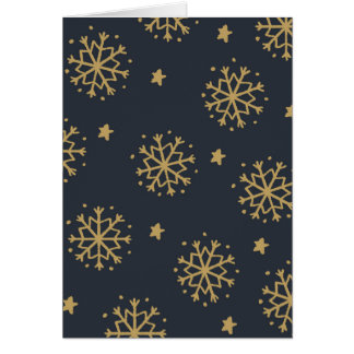 Black and Gold Snowflake Card