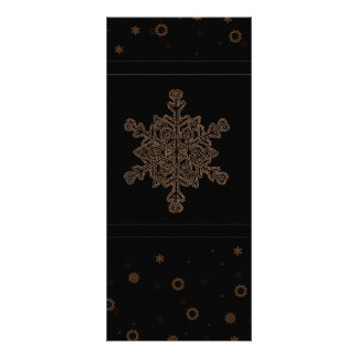 Black and Gold Snowflakes Rack Card