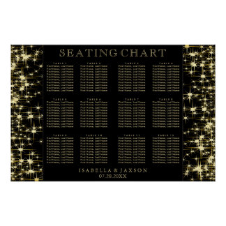 Black and Gold Starlights - Seating Chart