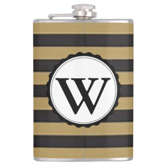 Black and Gold Striped Flasks