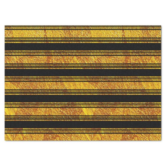 Black And Gold Striped Tissue Paper