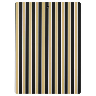 Black and Gold Stripes - School Colors Clipboard