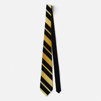 Black and Gold Stripes Tie