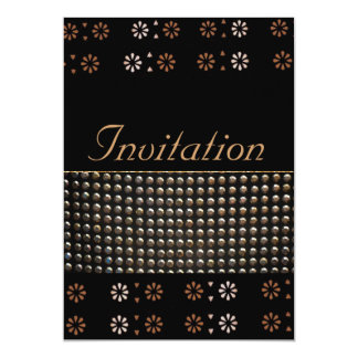 Black And Gold Studs Pattern Card