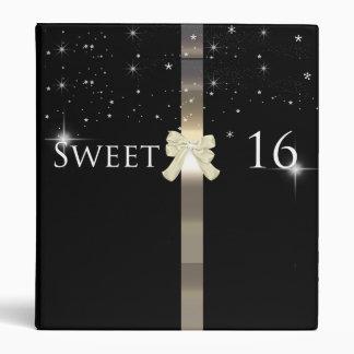 Black and Gold Sweet Sixteen Photo Album Vinyl Binder