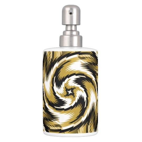 Black and Gold Swirls Bath Set