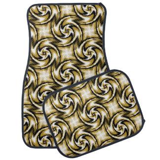 Black and Gold Swirls Car Mat