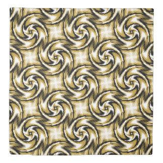 Black and Gold Swirls Duvet Cover