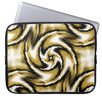 Black and Gold Swirls Laptop Sleeve