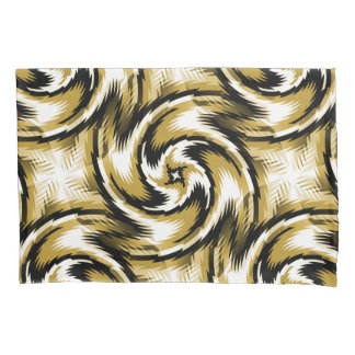 Black and Gold Swirls Pillowcase