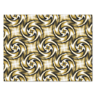 Black and Gold Swirls Tissue Paper