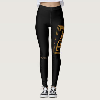 BLACK AND GOLD TB leggings