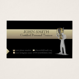 Black And Gold Template Business Card