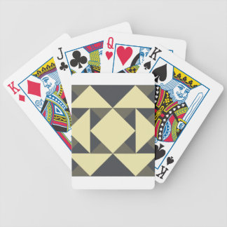 Black and gold triangles bicycle playing cards
