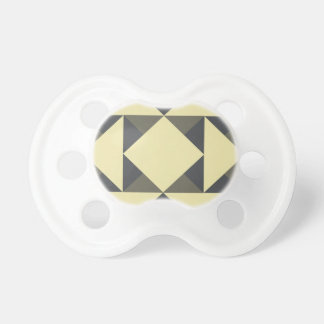Black and gold triangles pacifier