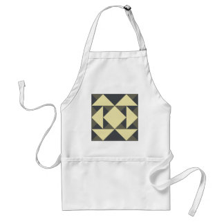 Black and gold triangles standard apron