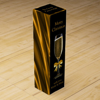 Black and Gold Wine Box