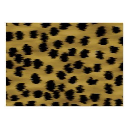 Black and Golden Brown Cheetah Print Pattern. Business Card Templates