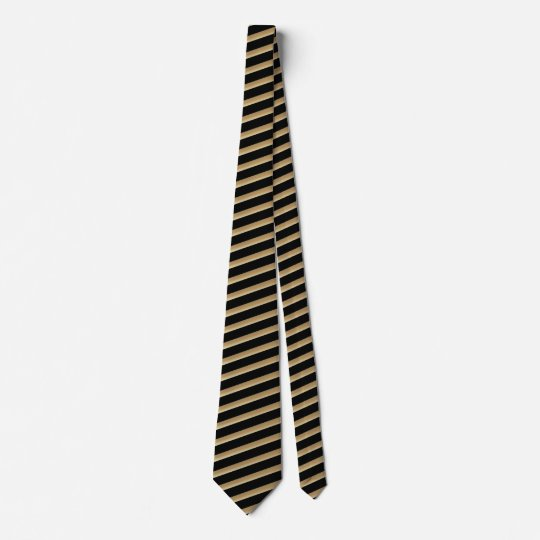 Black And Golden Brown Stripe Tie
