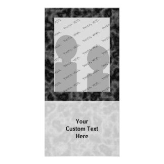 Black and Gray Abstract Pattern Photo Cards