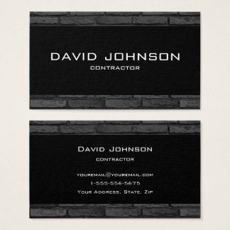 Black and Gray Brick Simple Design Business Card