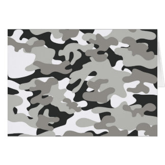 Black and Gray Camo Card