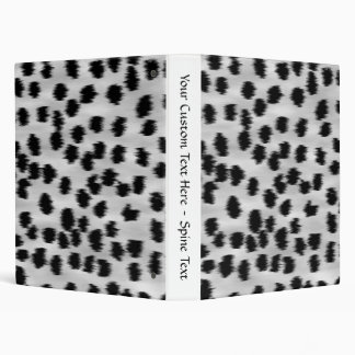 Black and Gray Cheetah Print Pattern. Binder
