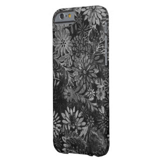 black and gray floral design barely there iPhone 6 case